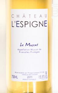 Muscat de Rivesaltes - Château L'Espigne - 2012 - Blanc