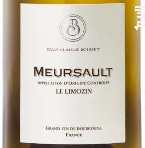 Meursault Le Limozin - Jean-Claude Boisset - 2018 - Blanc