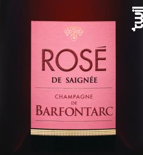 Rosé de saignée - Champagne de Barfontarc - Non millésimé - Effervescent