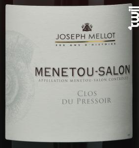 Le Clos du Pressoir - Vignobles Joseph Mellot - 2018 - Rouge