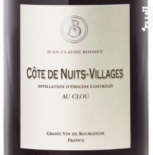Côtes de Nuits-Villages Au Clou