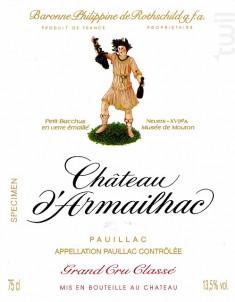 Château d'Armailhac - Domaines Baron Philippe de Rotschild - Château d'Armailhac - 2008 - Rouge