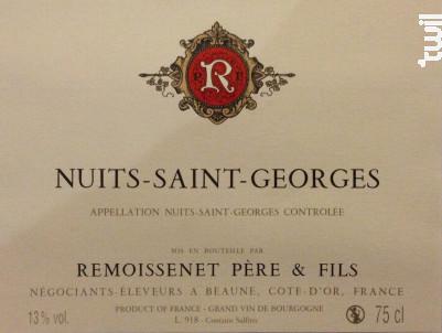 Nuits-Saint-Georges - Remoissenet - 2014 - Rouge