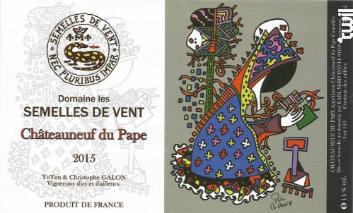 Châteauneuf-du-Pape - DOMAINE LES SEMELLES DE VENT - 2015 - Rouge
