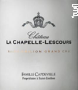 Château la Chapelle Lescours - Château l'Évêché - 2013 - Rouge