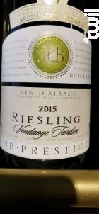 Riesling - Vendange Tardive - Huber et Bléger - 2015 - Blanc