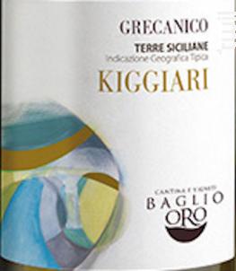 TERRE SICILIANE GRECANICO - BAGLIO ORO - 2017 - Blanc