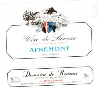 Apremont - Domaine de Rouzan - 2014 - Blanc