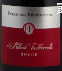 Perle des bénédictins ROUGE - Domaine des bénédictins - Non millésimé - Effervescent
