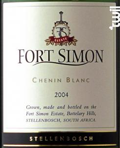 Chenin blanc - Fort Simon - 2017 - Blanc