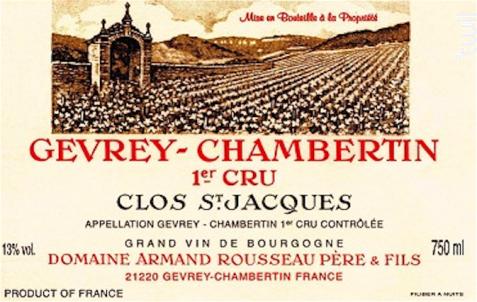 Clos Saint Jacques - Domaine Armand Rousseau - 2015 - Rouge