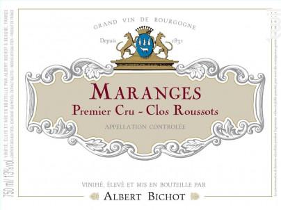 Maranges Premier Cru Clos Roussots - Albert Bichot - 2017 - Rouge