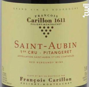 SAINT AUBIN 1er cru Pitangeret - Domaine François Carillon - 2016 - Rouge
