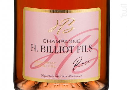 Brut Rosé Grand Cru - Champagne Billiot - Non millésimé - Effervescent