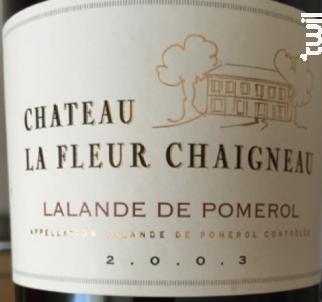 Château La Fleur Chaigneau - Château La Fleur Chaigneau - 1993 - Rouge