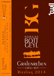 Riesling Lieu-Dit Grafenreben - Domaine BOTT GEYL - 2014 - Blanc