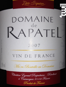 Petite Signature - Domaine de Rapatel - 2012 - Rouge