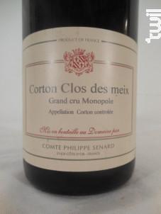 Corton Grand Cru Clos Des Meix Monopole - Comte Senard - 2016 - Rouge