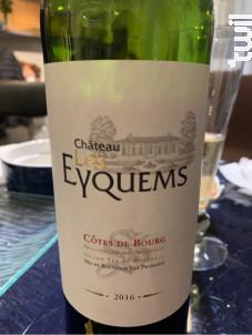 Château les Eyquems - Château Bourg des Eyquems - 2016 - Rouge