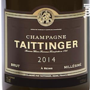 Brut Millésimé - Champagne Taittinger - 2014 - Effervescent