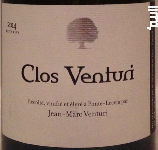 Clos venturi - Clos Venturi - 2016 - Rouge