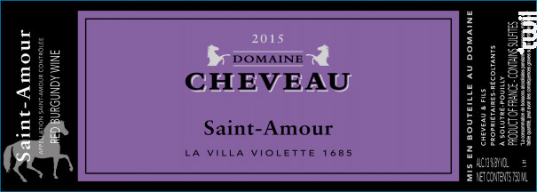 La Villa Violette 1685 - Domaine Cheveau - 2015 - Rouge