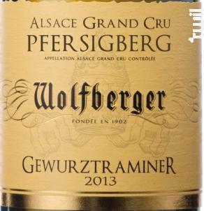 GEWURZTRAMINER Grand Cru PFERSIGBERG - Wolfberger - 1997 - Blanc