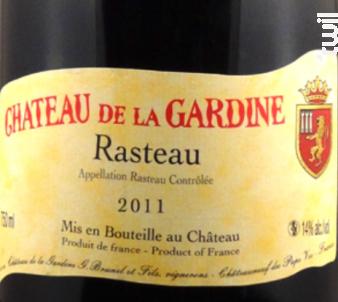 Château La Gardine - Rasteau - Château de la Gardine - Domaine Brunel Père & Fils - 2014 - Rouge