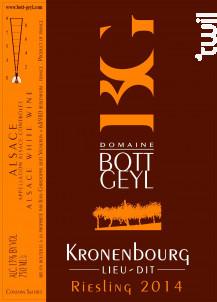 Riesling Lieu-Dit Kronenbourg - Domaine BOTT GEYL - 2014 - Blanc