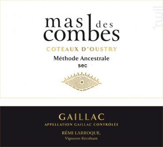 Mas des Combes Méthode ancestrale Gaillacoise sec - Mas des Combes - Non millésimé - Blanc