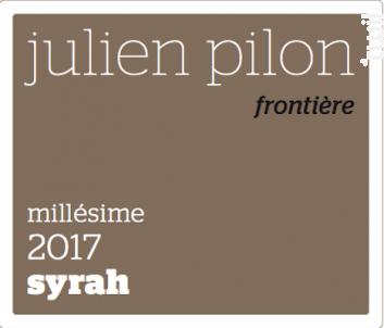 Frontière - Domaine Julien Pilon - 2017 - Rouge