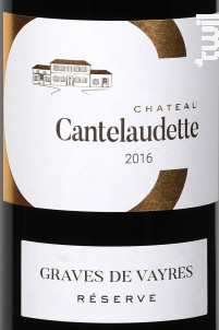 Rouge Réserve - Château  Cantelaudette - 2018 - Rouge