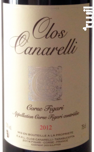 Clos canarelli - Clos Canarelli - Yves Canarelli - 2012 - Rouge