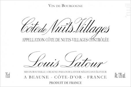 Côte de Nuits-Villages - Maison Louis Latour - 2015 - Rouge