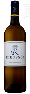 R de Rieussec - Domaines Barons de Rothschild - Château Rieussec - 2012 - Blanc