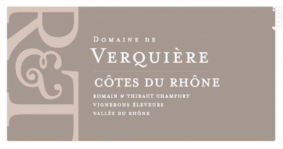 Côtes-du-Rhône Bio - Domaine de Verquière - 2019 - Rosé