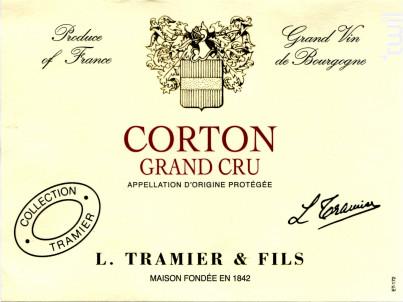 Corton Grand Cru - Maison L. Tramier et Fils - 2017 - Rouge