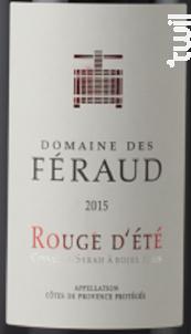 Rouge d'Eté - Domaine des Féraud - 2015 - Rouge