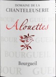 Alouettes - Domaine de La Chanteleuserie - 2017 - Rouge