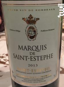 Marquis de Saint-Estephe - Marquis de Saint-Estephe et Châtellerie de Vertheuil - 1972 - Rouge