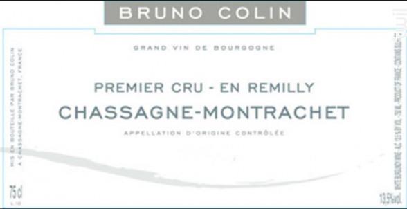 CHASSAGNE MONTRACHET 1er cru EN REMILLY - Domaine Bruno Colin - 2016 - Blanc