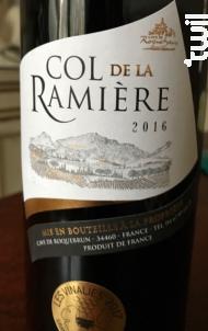Col de la Ramière - La Cave de Roquebrun - 2016 - Rouge