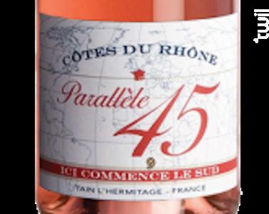 Parallèle 45 - Paul Jaboulet Aîné - 2018 - Rosé
