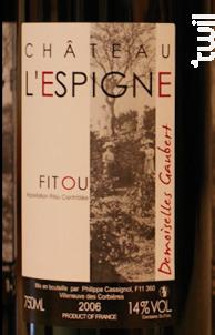 Demoiselles Gaubert - Château L'Espigne - 2017 - Rouge