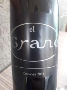 CARMENERE - Bodegas El Grano - 2016 - Rouge
