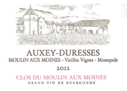Auxey-Duresses Moulin aux Moines Vieilles Vignes Monopole - Clos du Moulin aux Moines - 2001 - Rouge