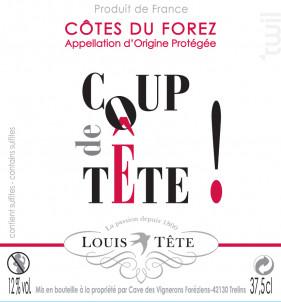Coup de Tête - Louis Tête - 2018 - Rouge
