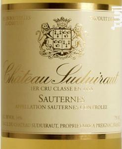 Château Suduiraut - Château Suduiraut - 1996 - Blanc
