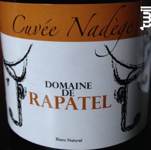 Cuvée Nadège - Domaine de Rapatel - 2010 - Blanc