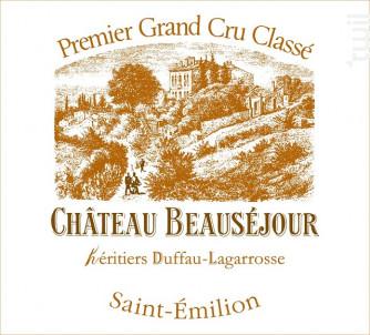 Château Beauséjour Duffau Lagarrosse - Château Beauséjour - 2013 - Rouge